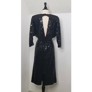 Oleg Cassini Dresses - Vintage Oleg Cassini Sequin Cocktail Dress